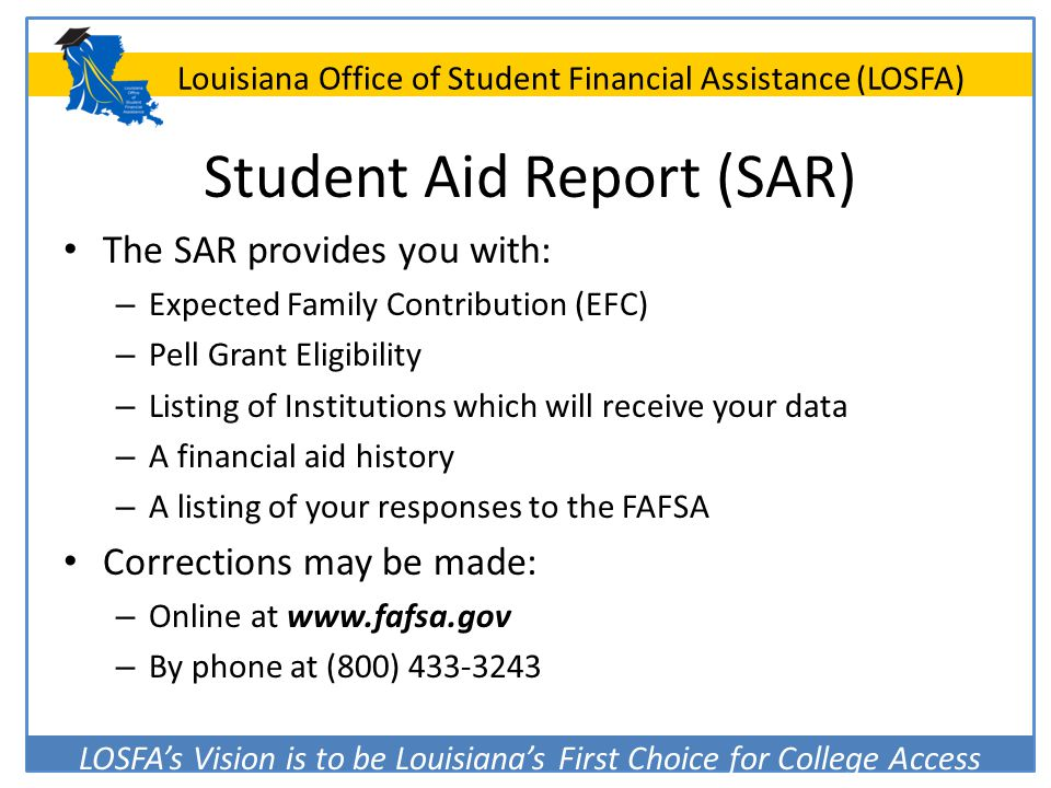 Student Aid Report (SAR)
