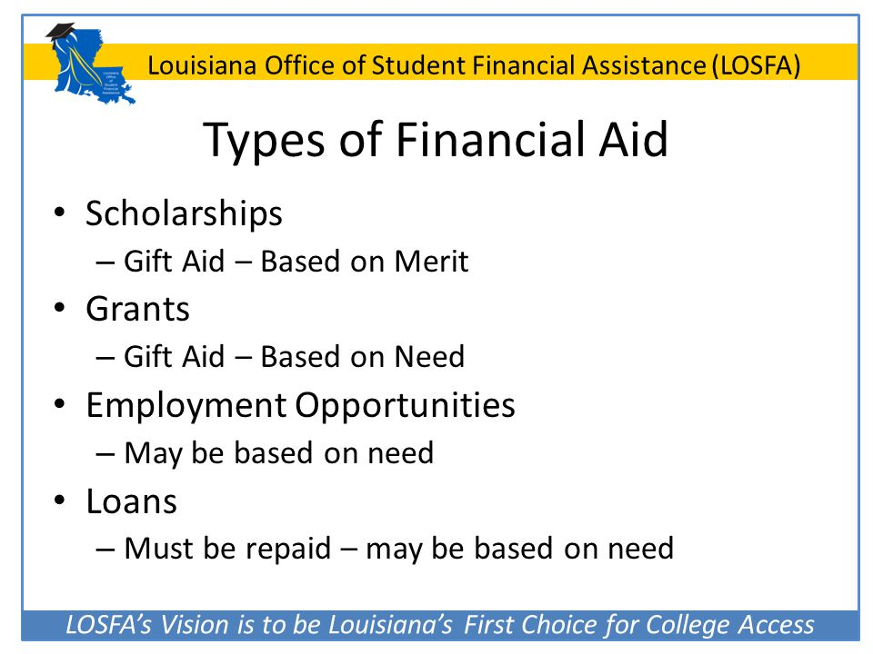 Types of Financial Aid Scholarships Grants Employment Opportunities