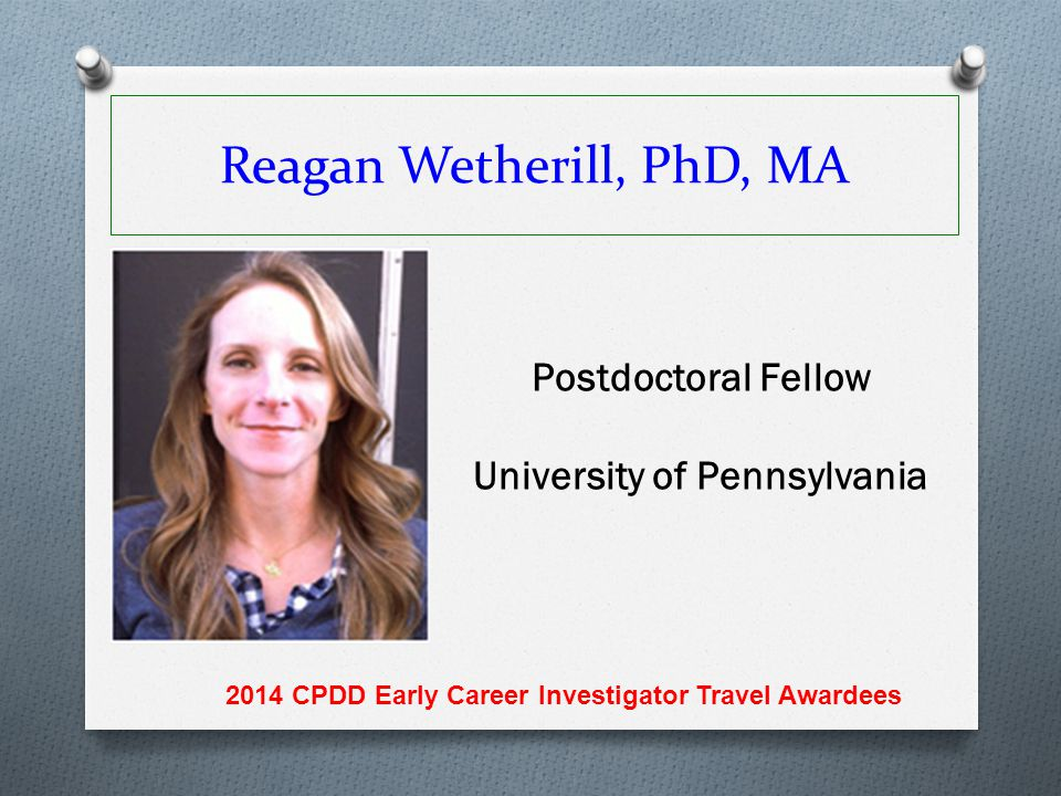 Reagan Wetherill, PhD, MA