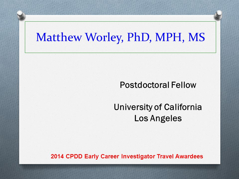 Matthew Worley, PhD, MPH, MS