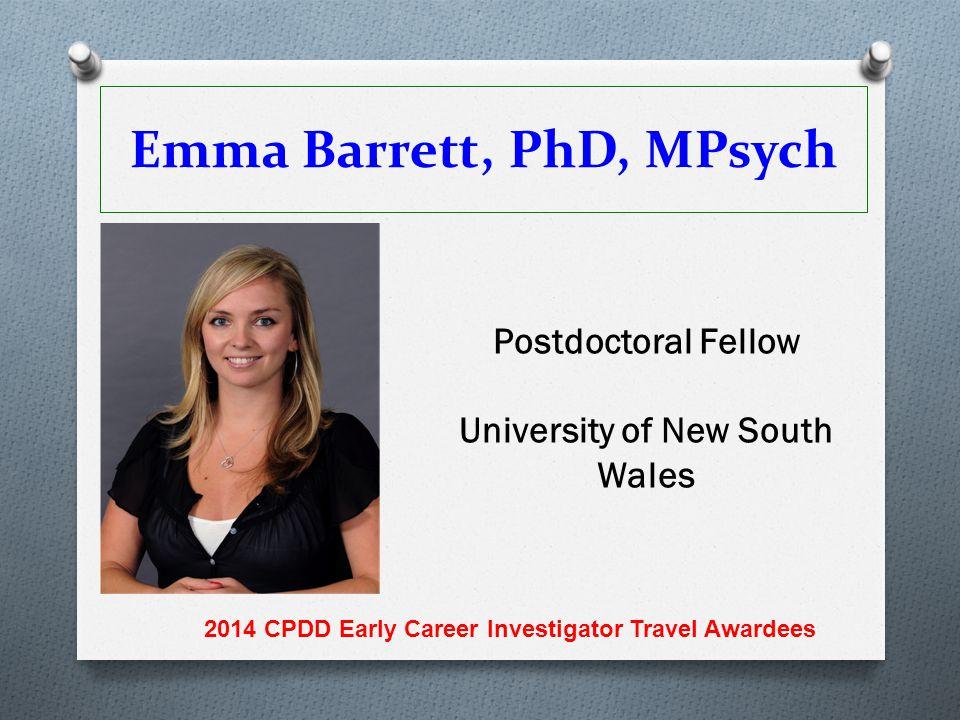 Emma Barrett, PhD, MPsych