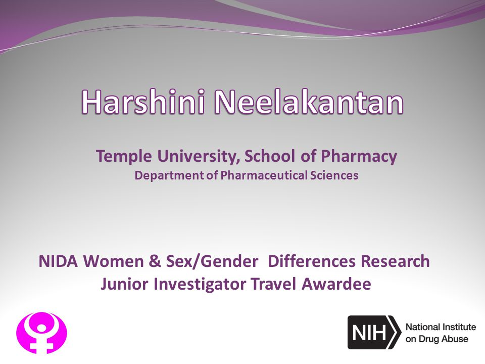 Harshini Neelakantan Temple University, School of Pharmacy