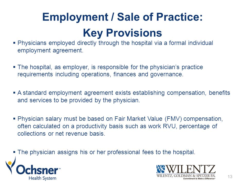 Understanding Physician Hospital Affiliations a presentation for – Physician Employment Agreement