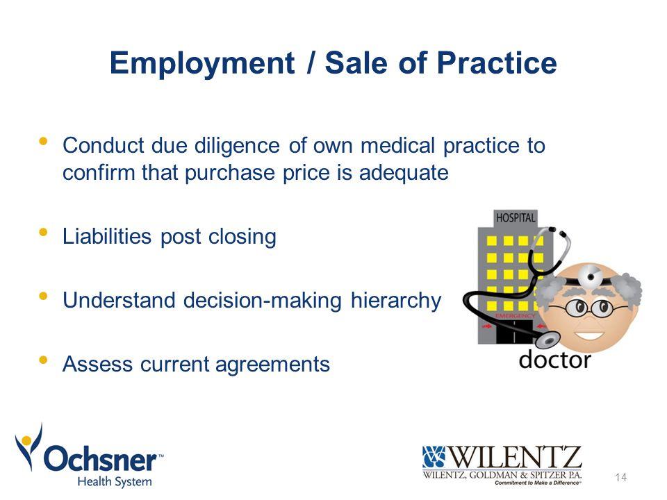 Employment / Sale of Practice