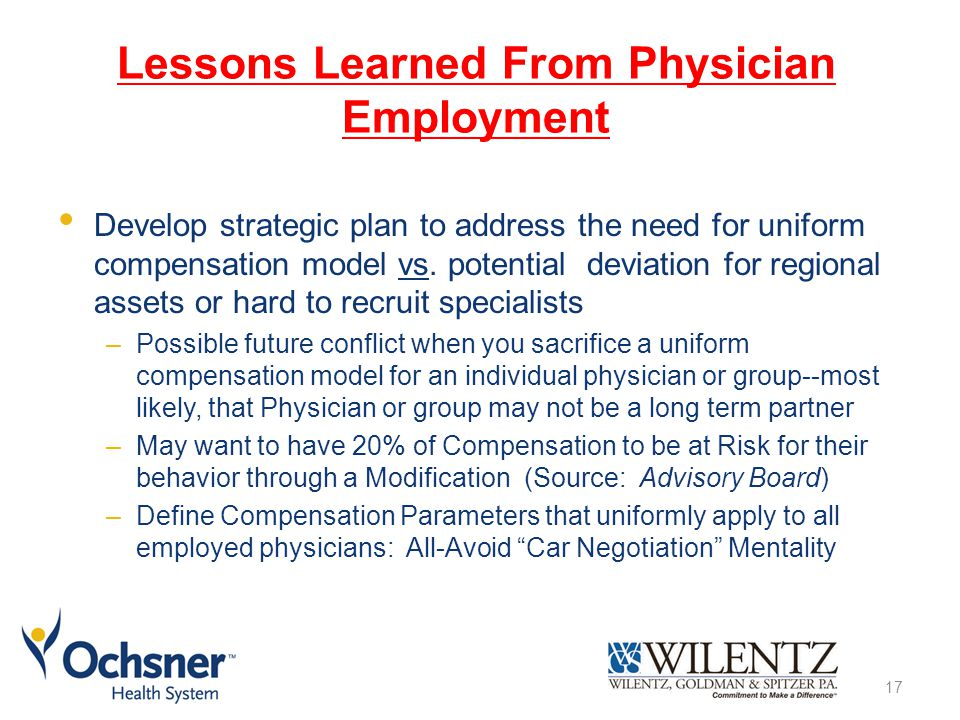 Lessons Learned From Physician Employment