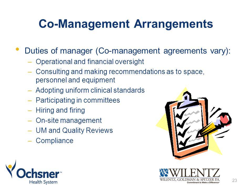 Co-Management Arrangements