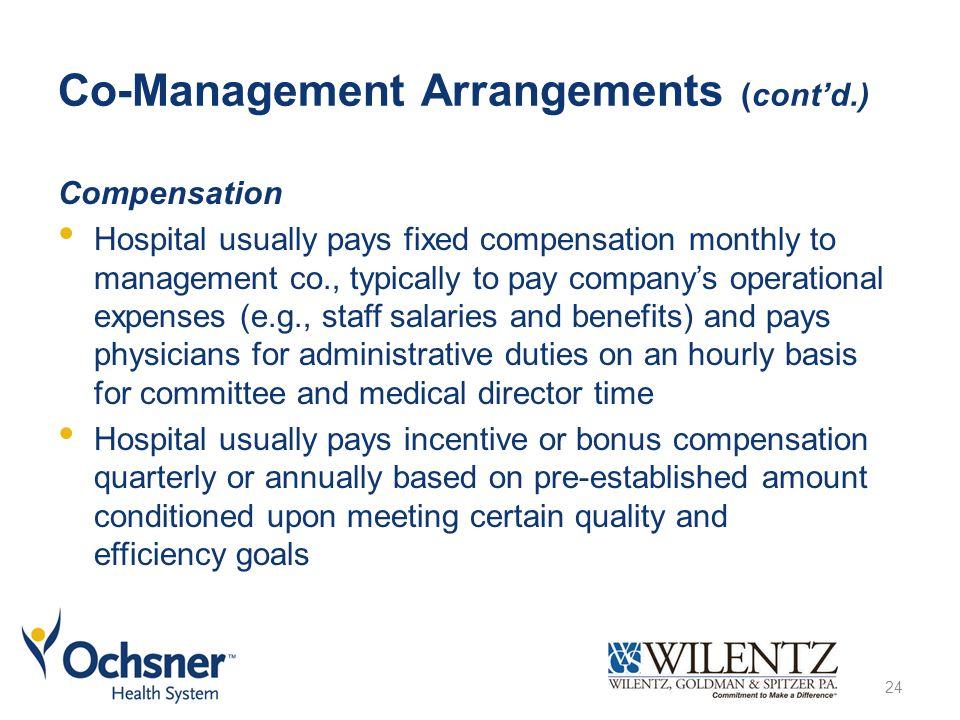 Co-Management Arrangements (cont'd.)