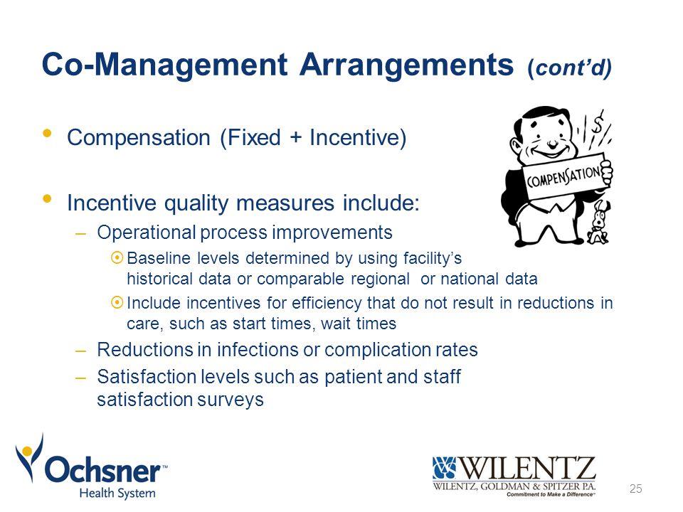 Co-Management Arrangements (cont'd)