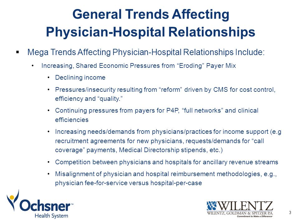 General Trends Affecting Physician-Hospital Relationships