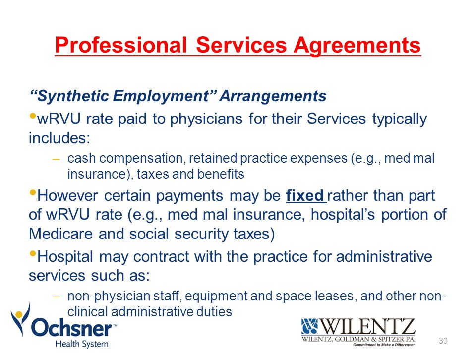 Professional Services Agreements