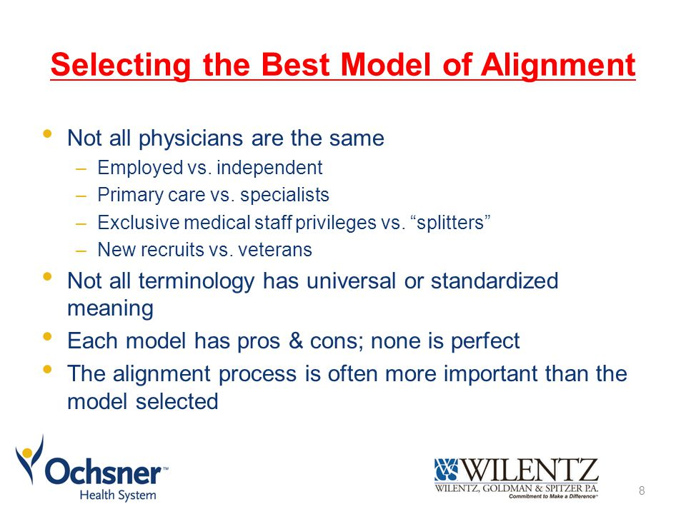 Selecting the Best Model of Alignment
