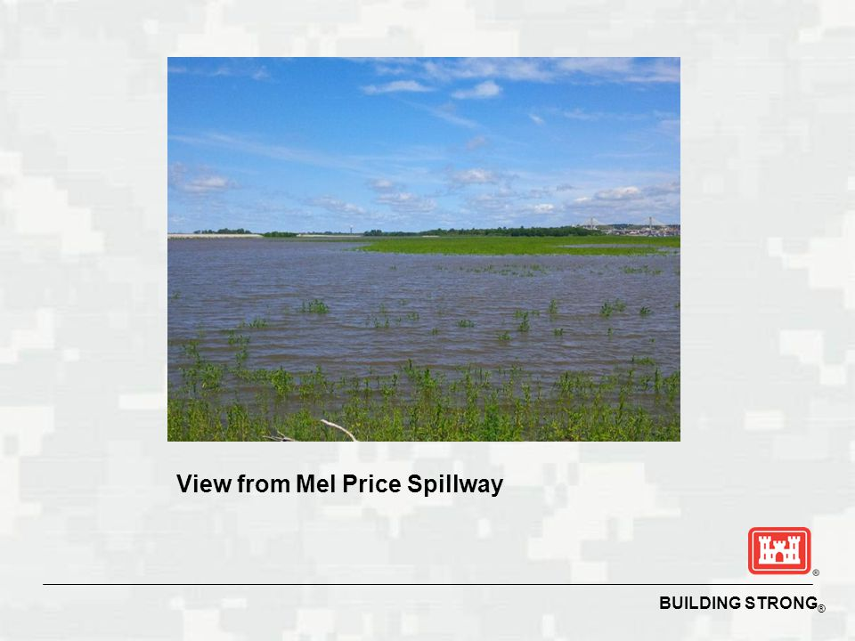 View from Mel Price Spillway