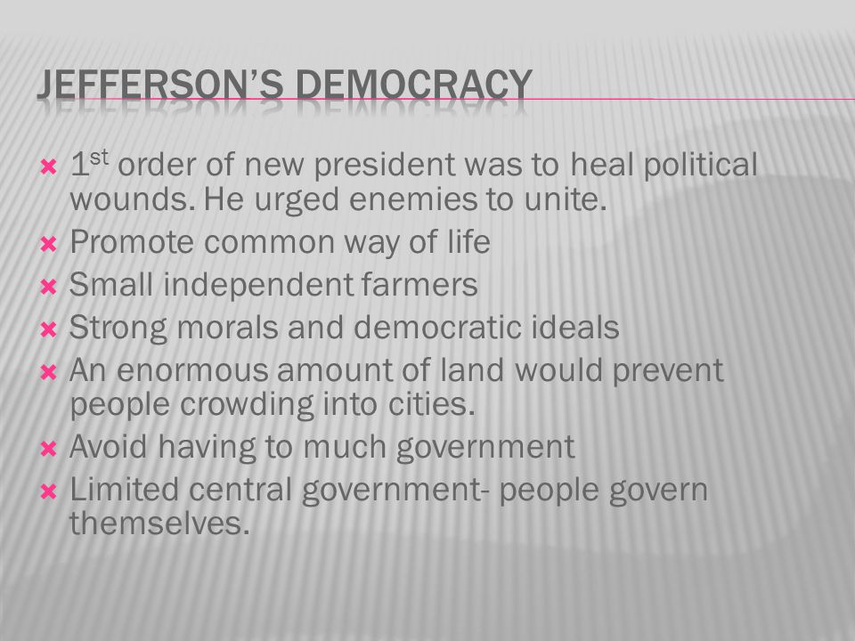 Jefferson's Democracy