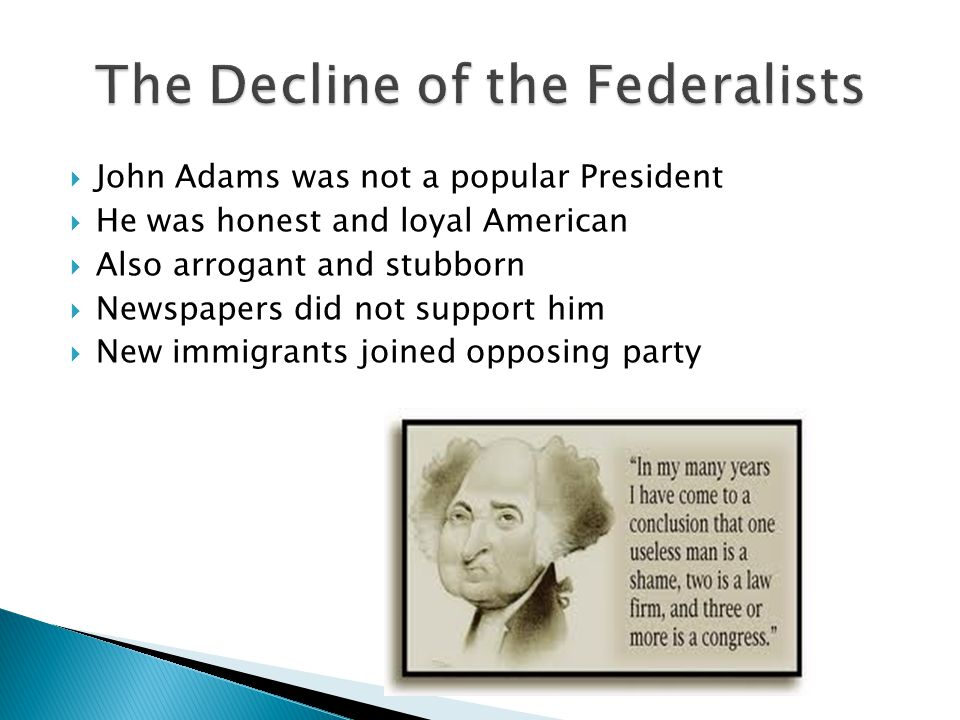 The Decline of the Federalists