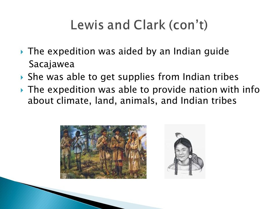 Lewis and Clark (con't)