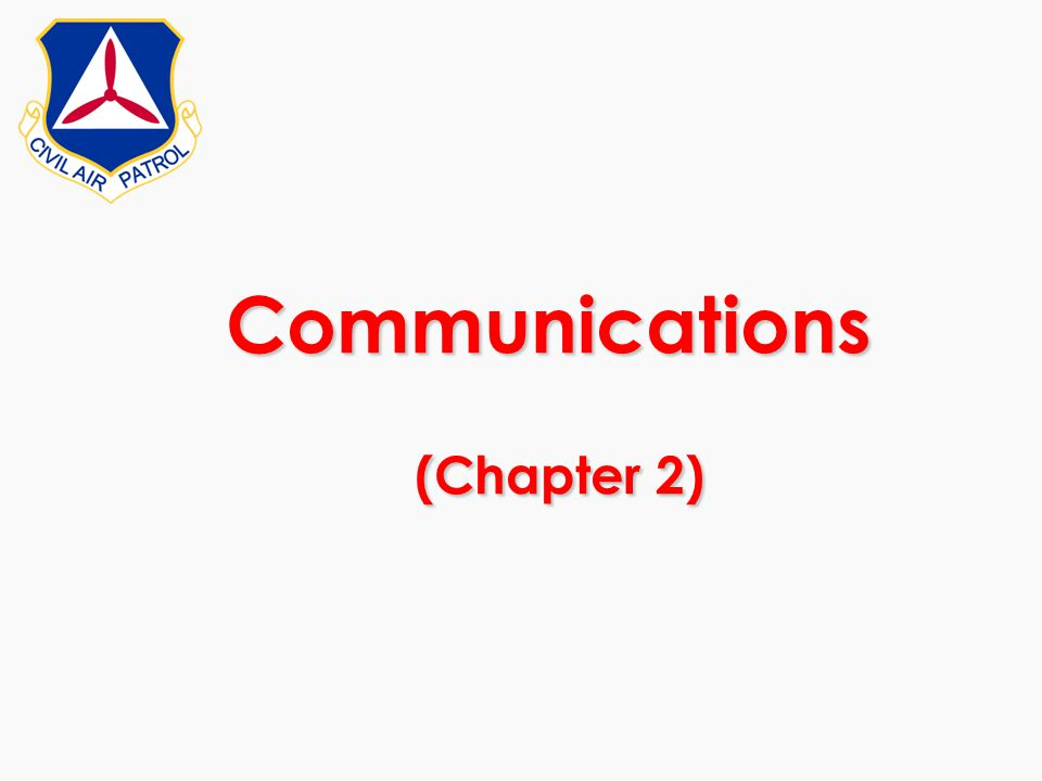 Communications (Chapter 2)