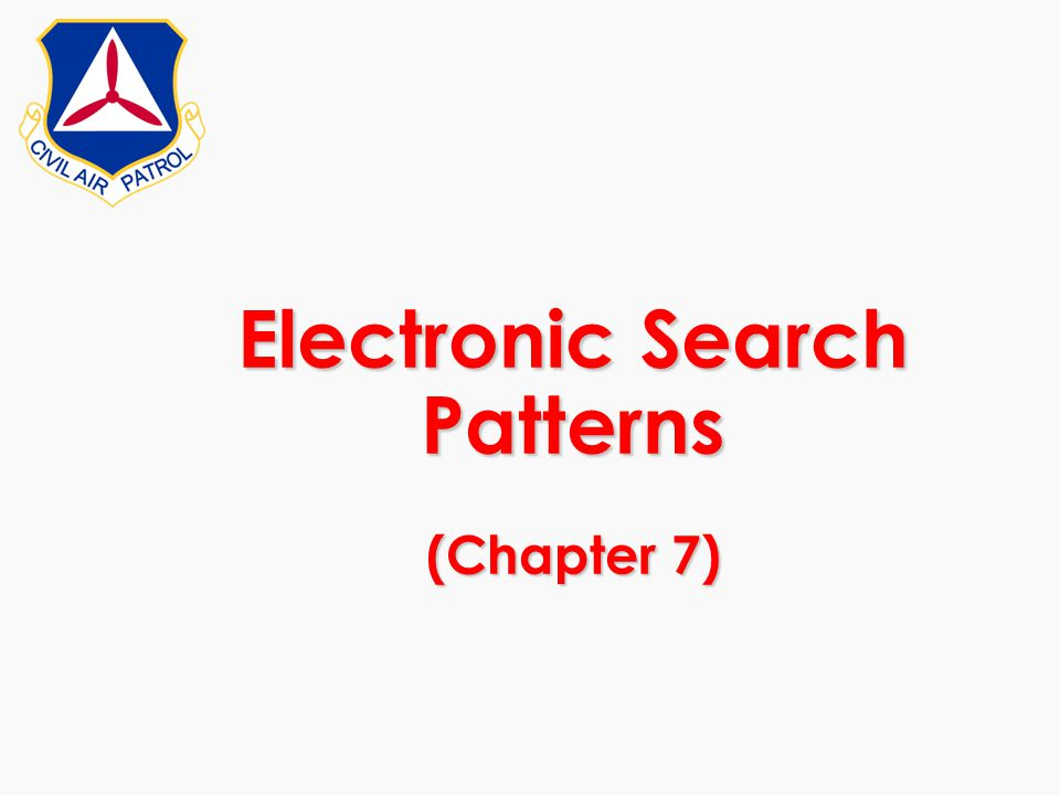 Electronic Search Patterns (Chapter 7)