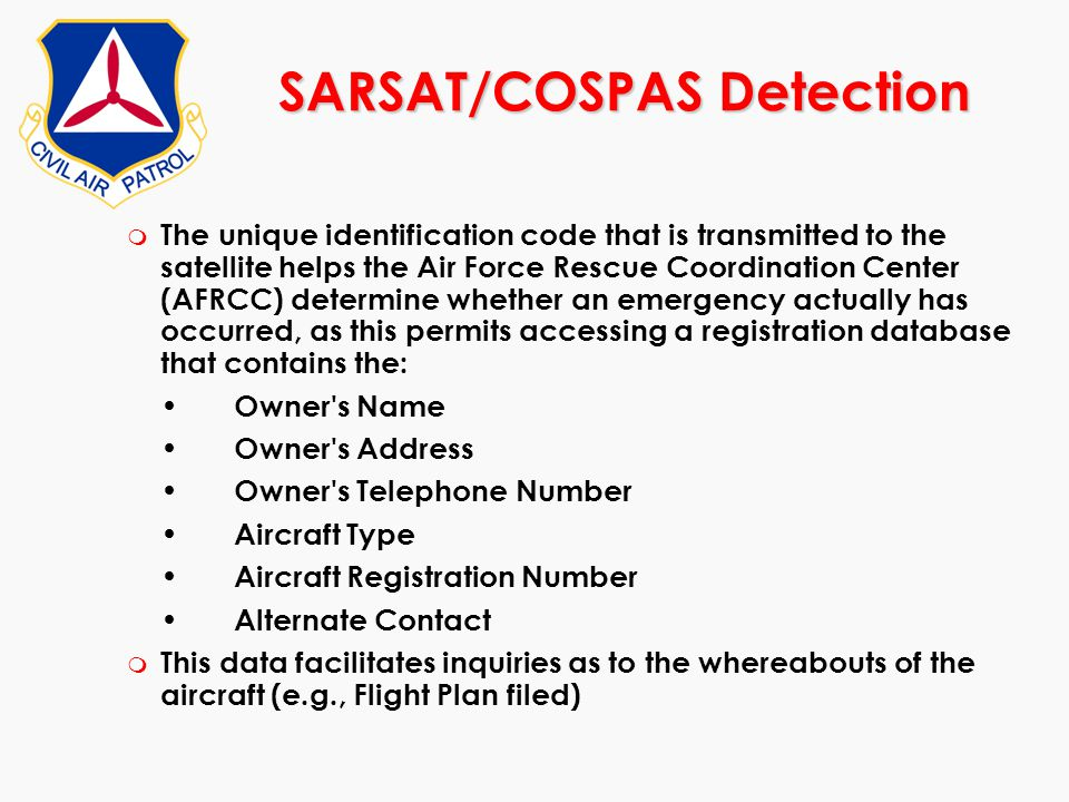 SARSAT/COSPAS Detection