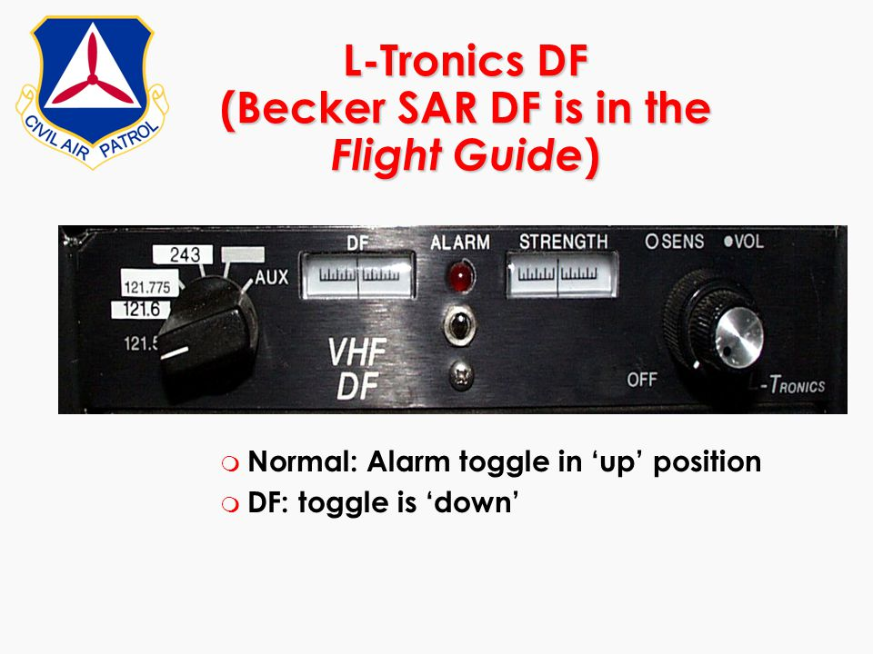L-Tronics DF (Becker SAR DF is in the Flight Guide)