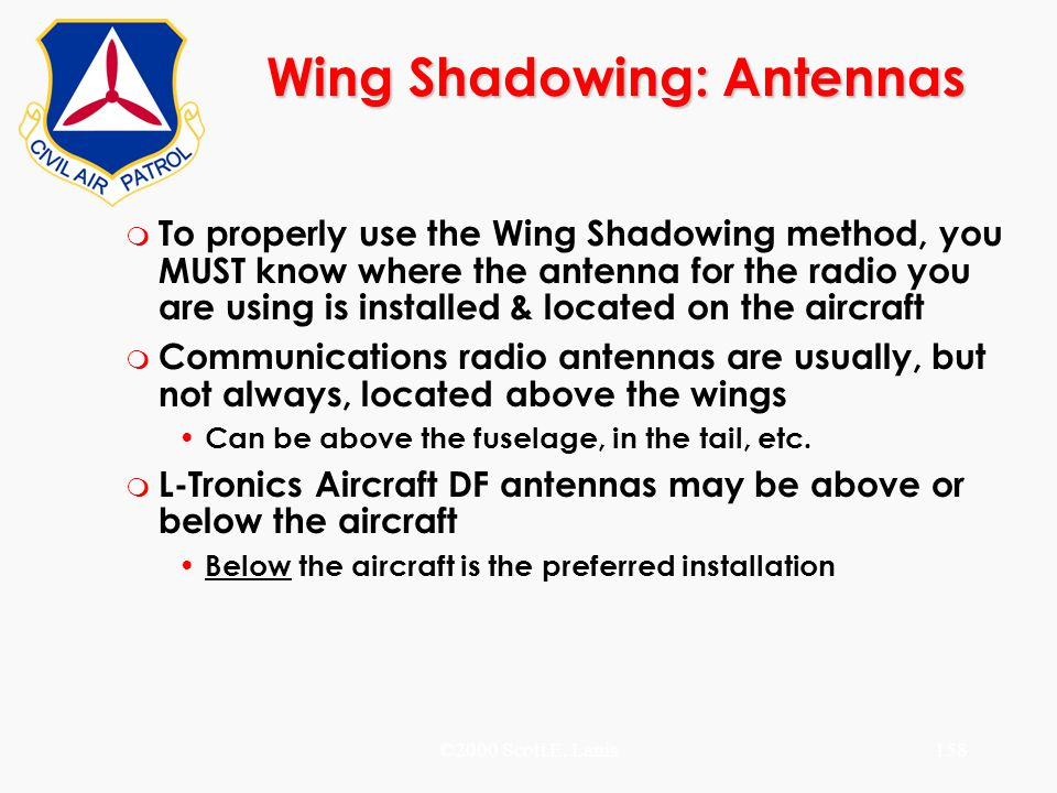 Wing Shadowing: Antennas