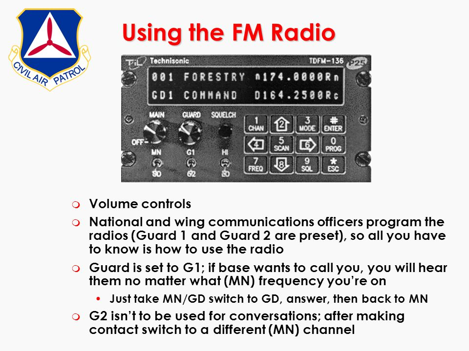 Using the FM Radio Volume controls