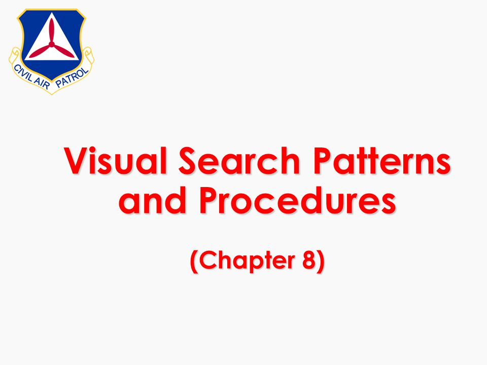 Visual Search Patterns and Procedures (Chapter 8)