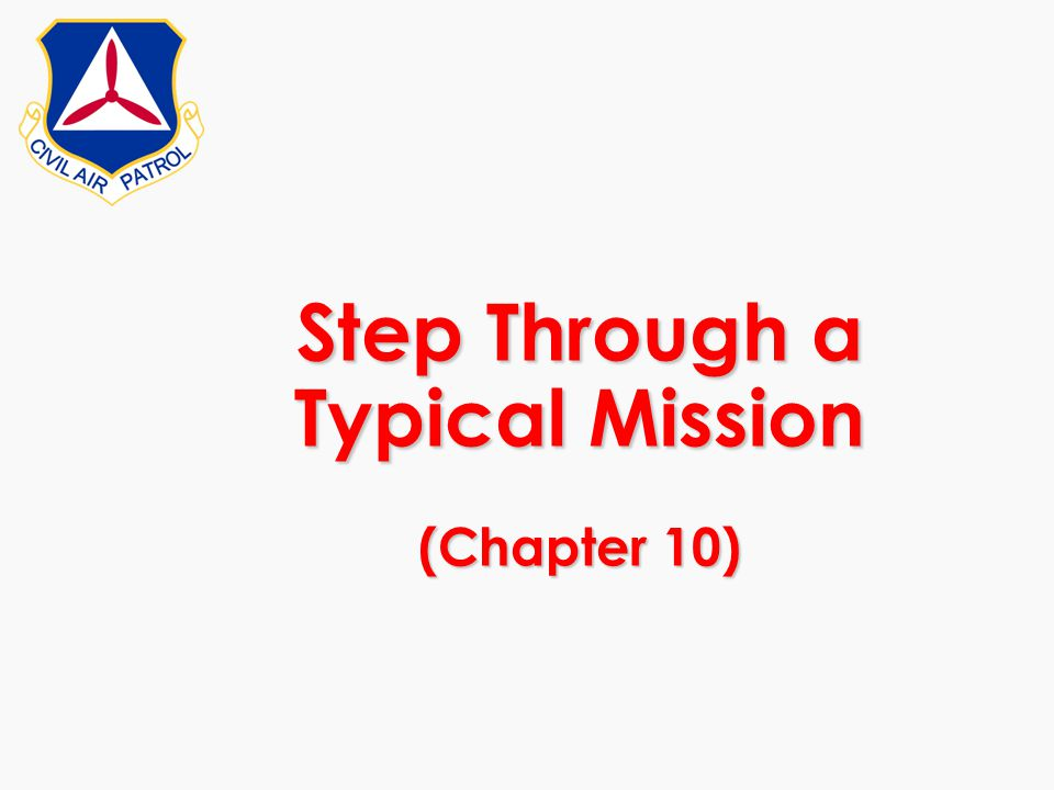 Step Through a Typical Mission