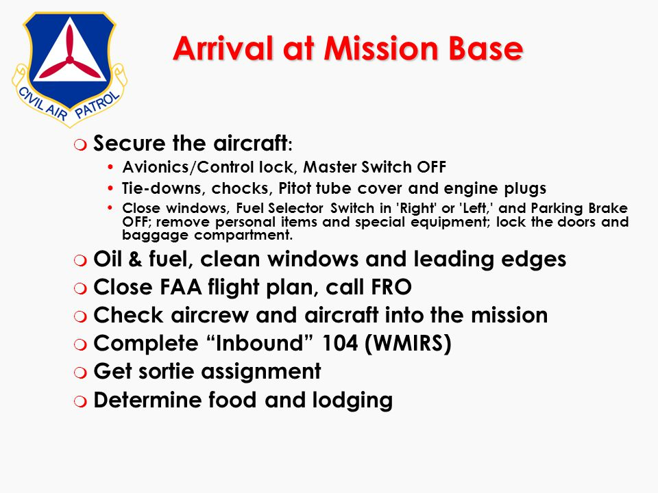 Arrival at Mission Base
