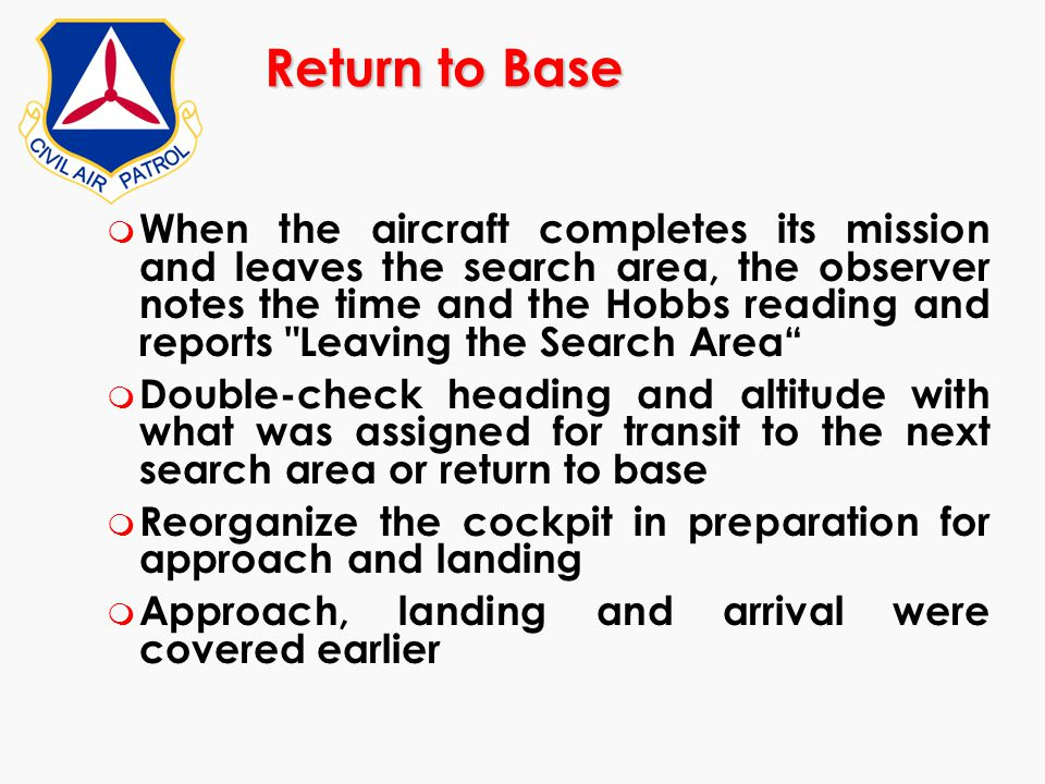 Return to Base
