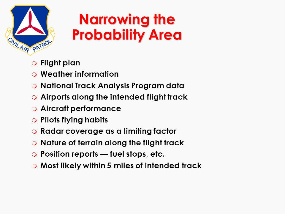 Narrowing the Probability Area