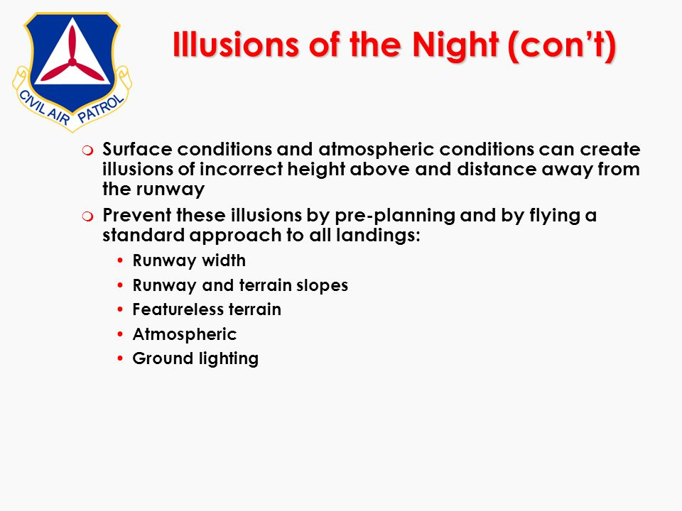 Illusions of the Night (con't)