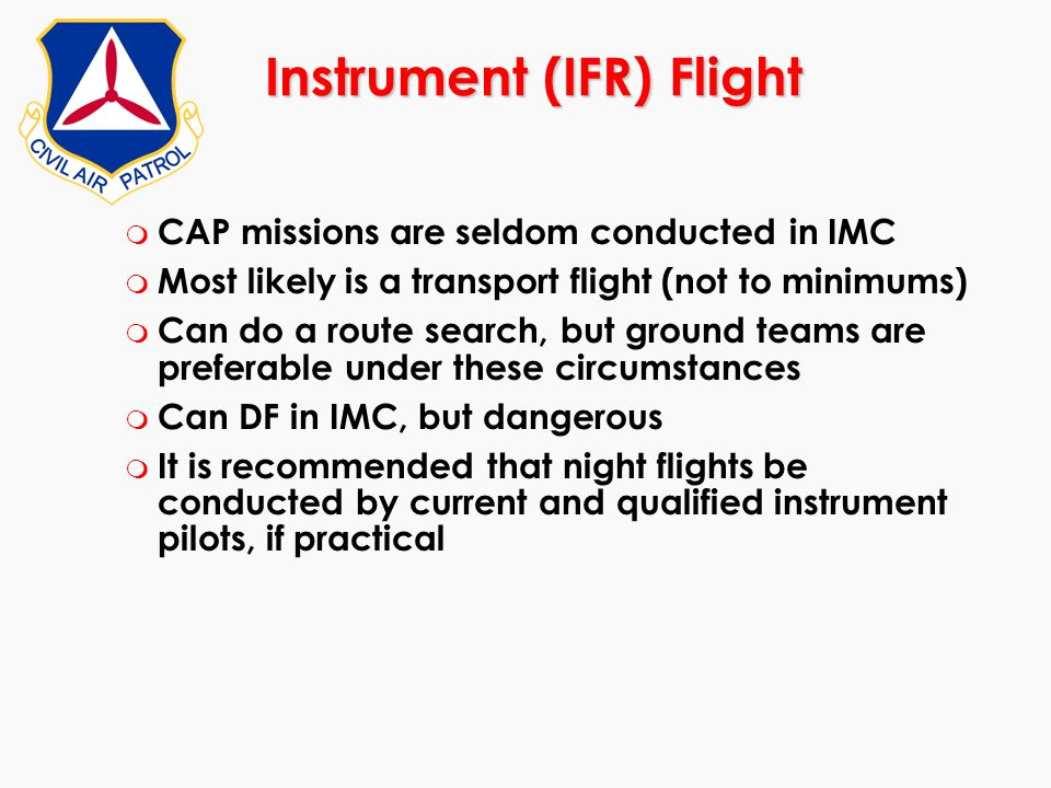 Instrument (IFR) Flight