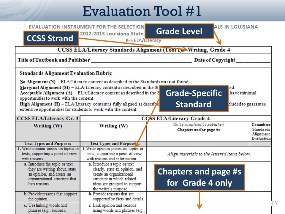 Grade-Specific Standard Chapters and page #s for Grade 4 only
