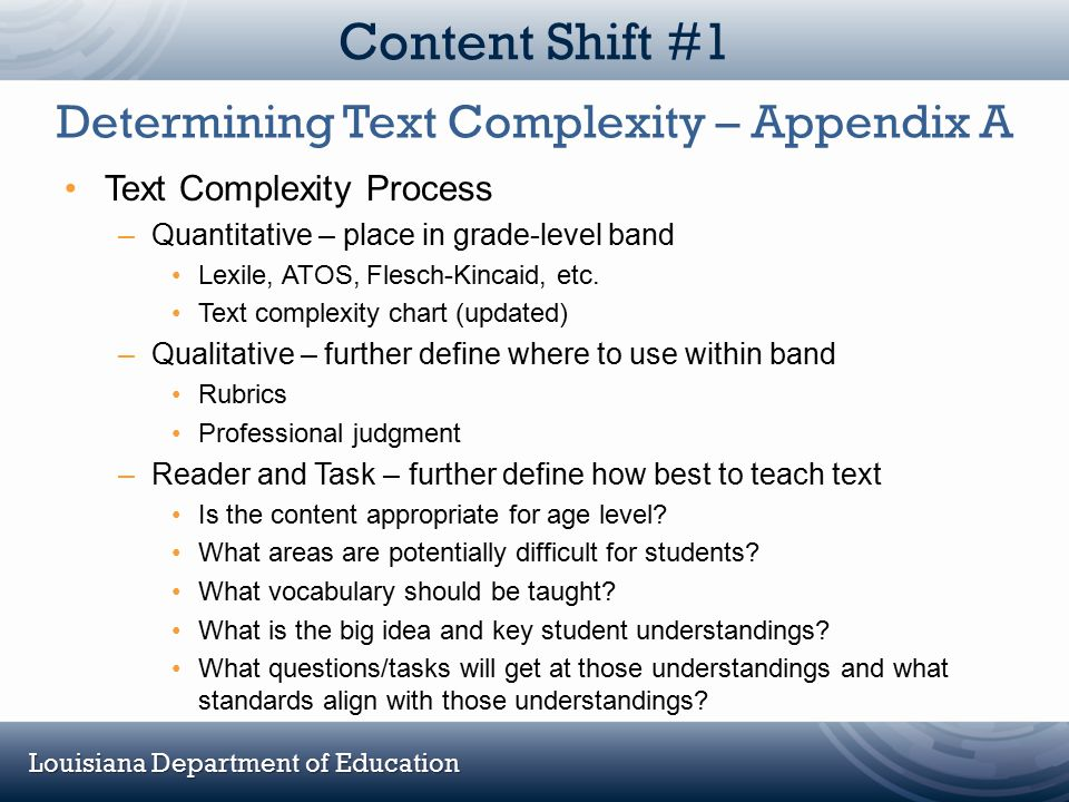 Determining Text Complexity – Appendix A