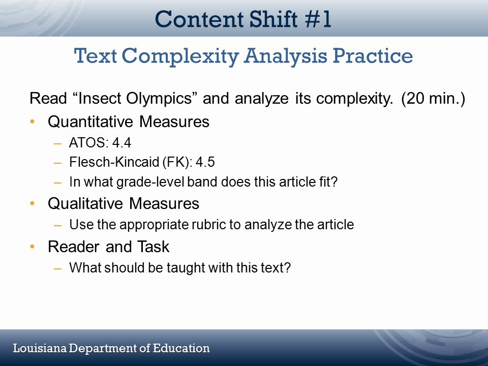 Text Complexity Analysis Practice