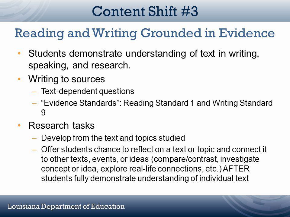Reading and Writing Grounded in Evidence