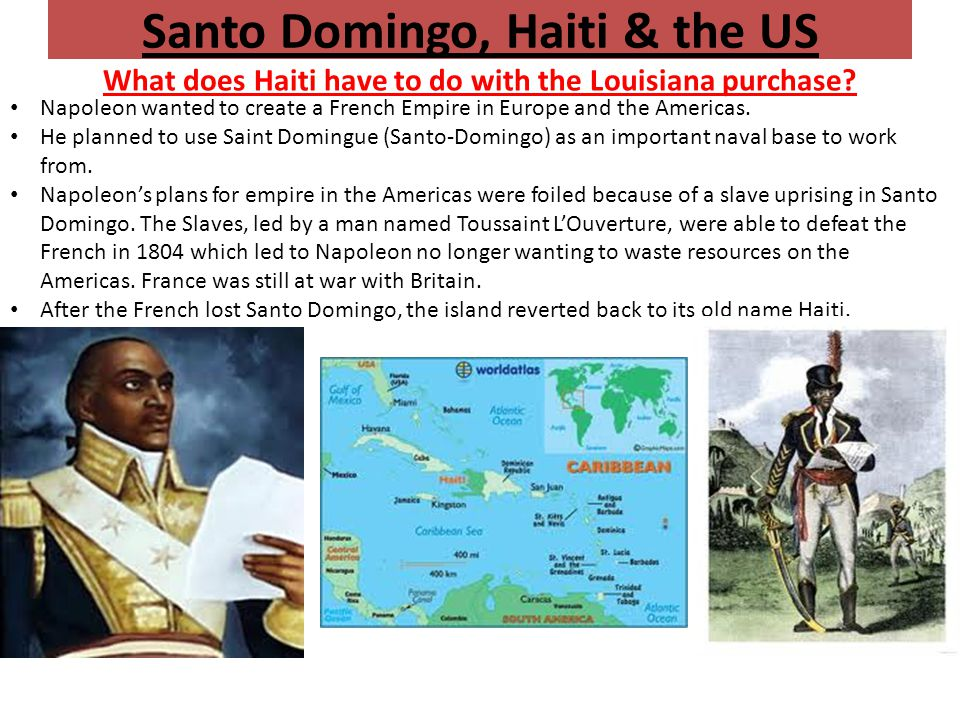 Santo Domingo, Haiti & the US