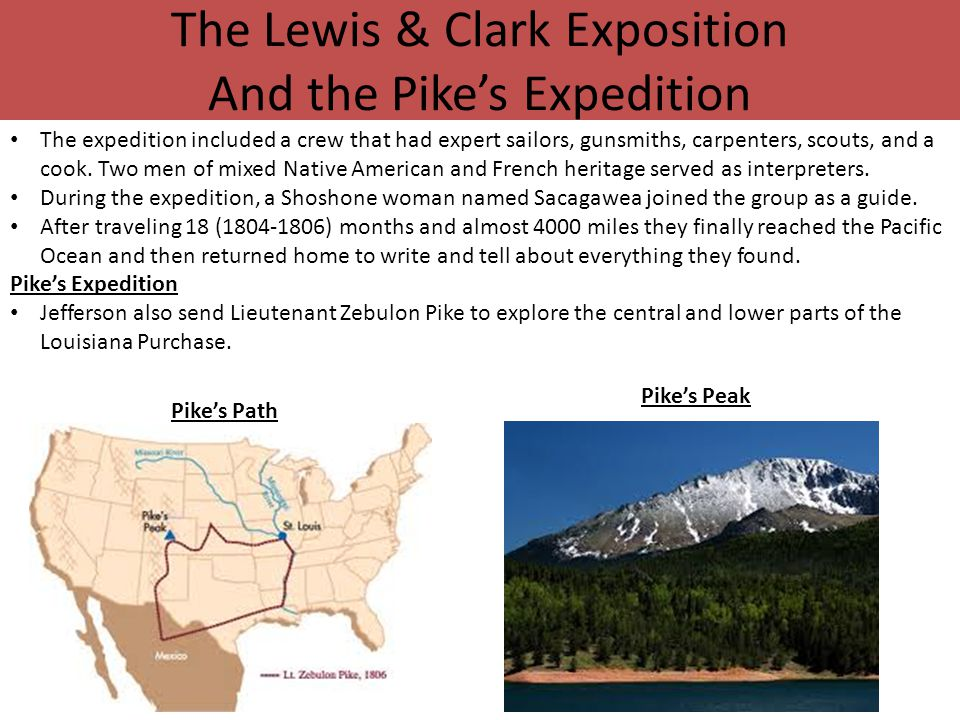 The Lewis & Clark Exposition And the Pike's Expedition
