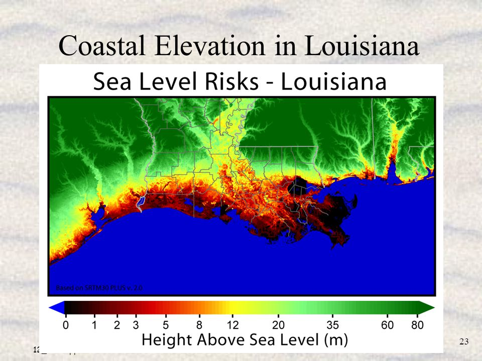 Coastal Elevation in Louisiana