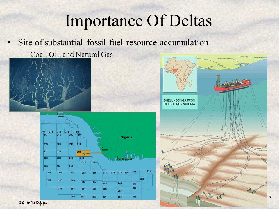 Importance Of Deltas Site of substantial fossil fuel resource accumulation.