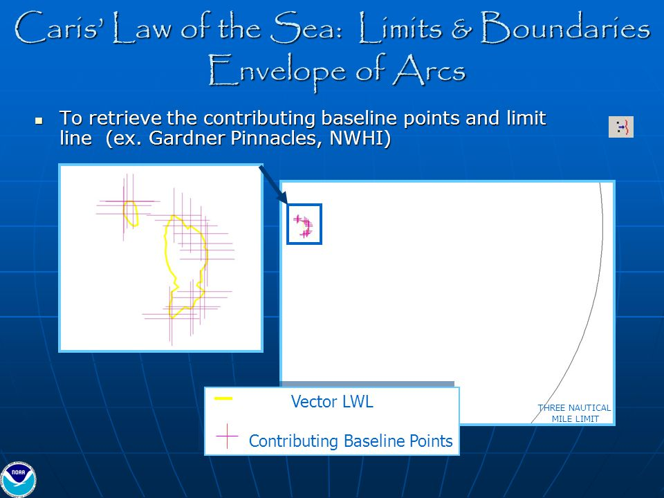 Caris' Law of the Sea: Limits & Boundaries Envelope of Arcs