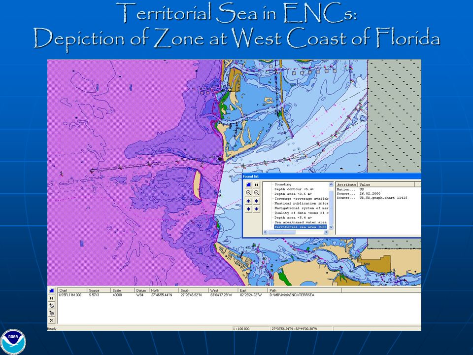 Territorial Sea in ENCs: Depiction of Zone at West Coast of Florida