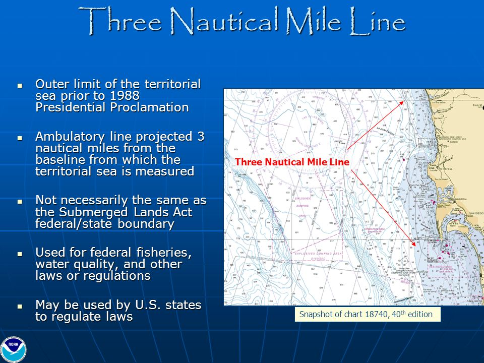 Three Nautical Mile Line