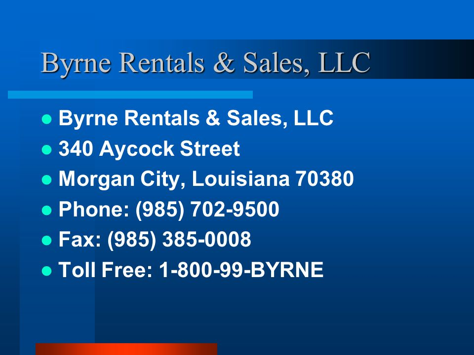 Byrne Rentals & Sales, LLC
