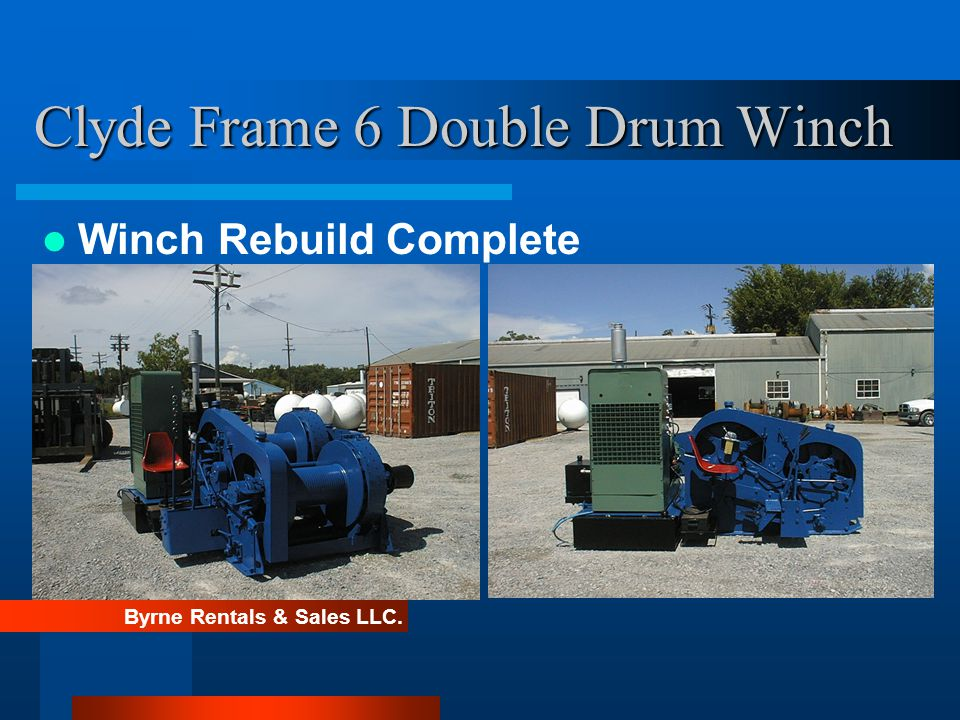Clyde Frame 6 Double Drum Winch