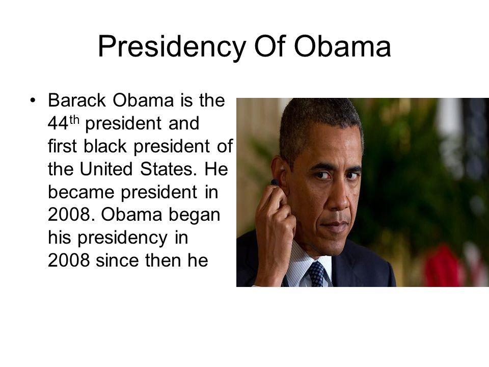 Presidency Of Obama