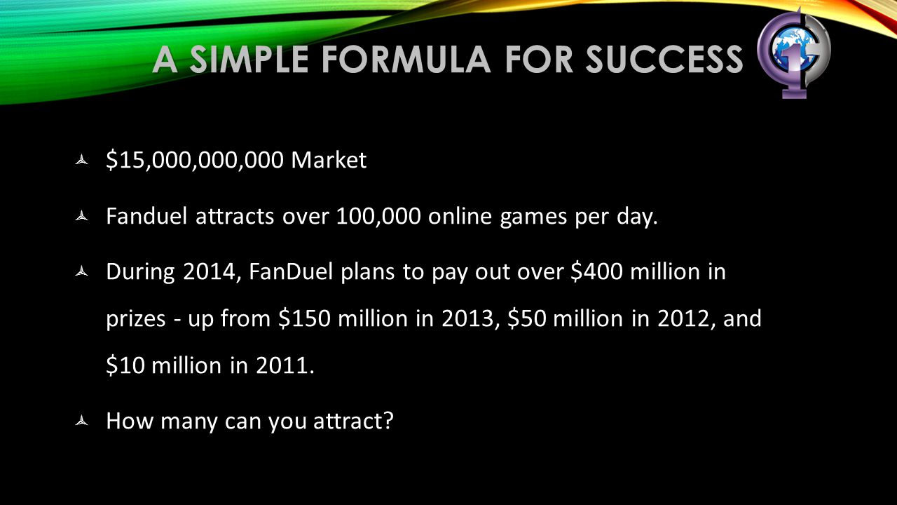 A simple formula for success
