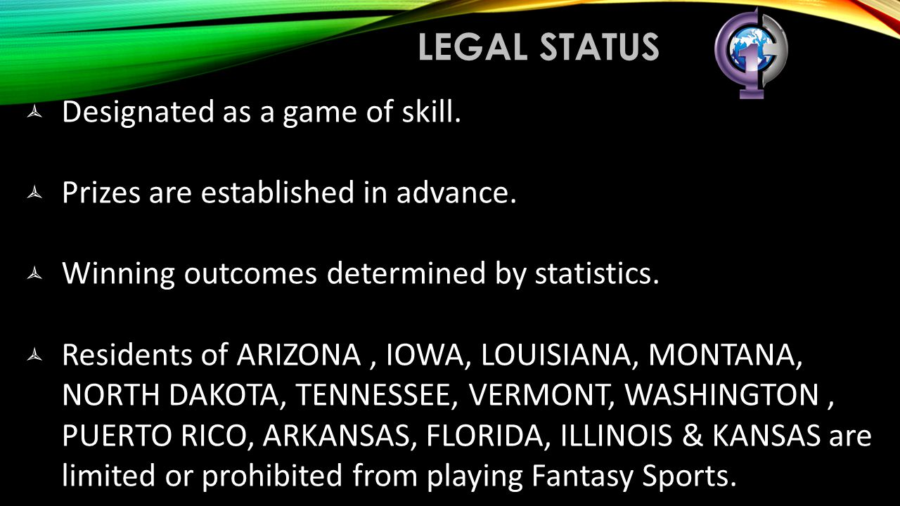legal status Designated as a game of skill.