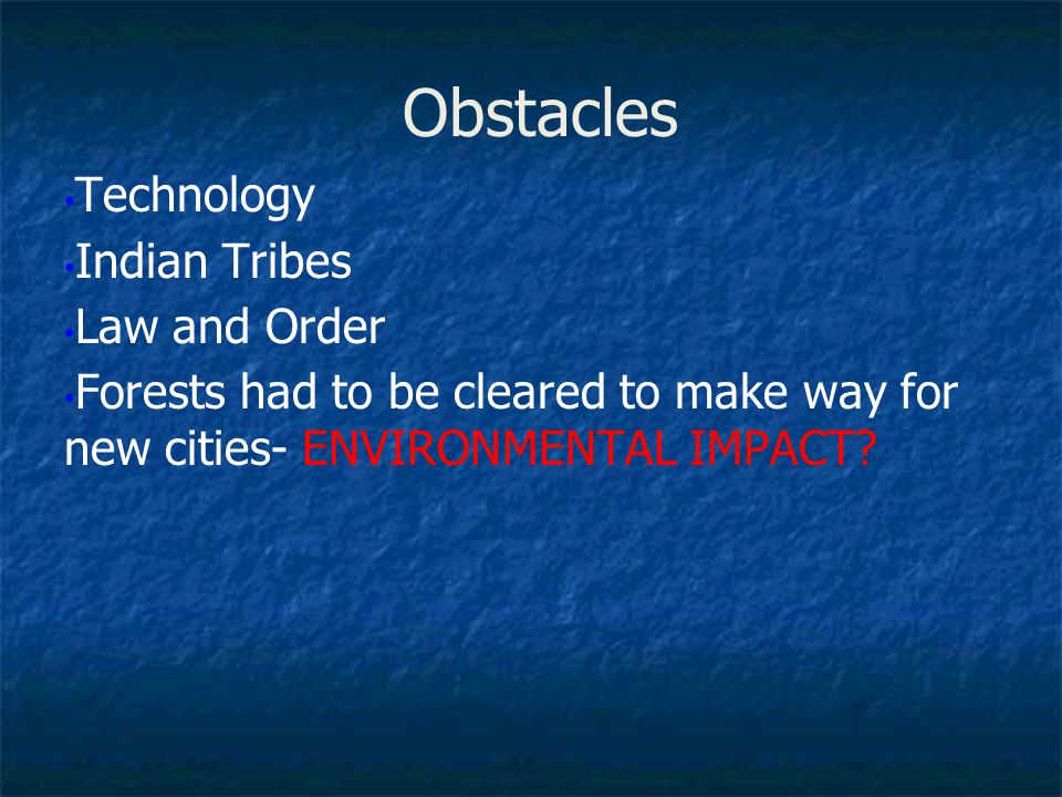 Obstacles Technology Indian Tribes Law and Order