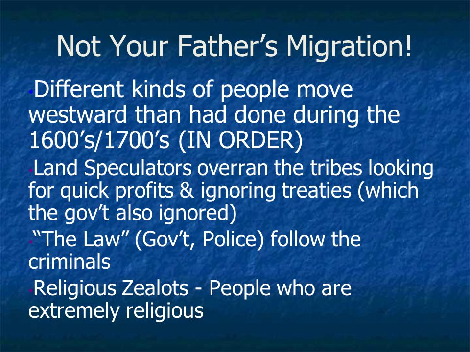 Not Your Father's Migration!